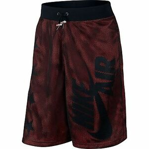 Nike Air Pivot V3 Mesh Shorts Athletic BlackLight Crimson 778060 (Sz LARGE) $75