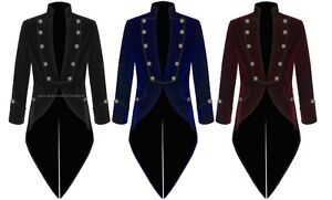 Men#x27;s Velvet VLADIMIR TUXEDO Jacket Tail coat Goth Steampunk Victorian $44.99