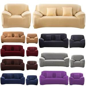 STRETCH SLIPCOVER CHAIR LOVE SEAT SOFA FUTON RECLINER PILLOW COVER CASE