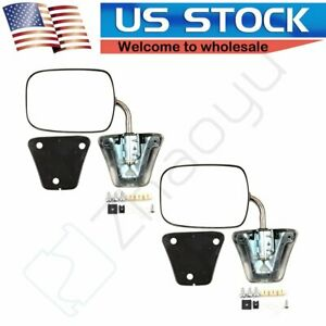 Chrome Manual Side View Mirrors LH RH Pair Set For 1973 86 Chevy GMC Truck $51.99