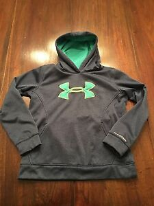 Under Armour Storm Hoodie Youth Girls Large YLG Blue  Green Loose Fit
