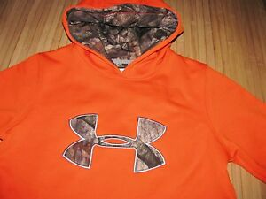 UNDER ARMOUR Storm HOODIE Size YLG Youth LARGE Camo MOSSY OAK Camouflage NWT