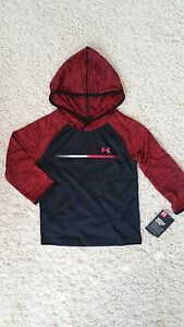 NWT AUTH MSRP $32.99 Under Armour Kid Baby boy Toddler 2T lightweight hoodie