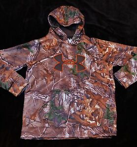 Under Armour STORM coldgear camo Realtree Xtra hoodie sweatshirt boys youth YLG