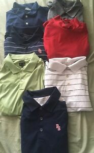 Lot of 7 NIKE GOLF ADIDAS Men's Large Short sleeve polo Shirts DRI-FIT DRY White