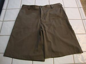 Nike Golf Shorts Dri Fit Polyester Dark Olive Green Mens Size 33