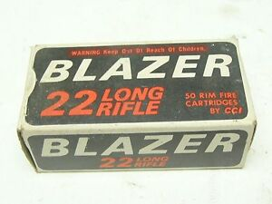 VINTAGE BLAZER 22 LONG RIFLE 50 RIM FIRE CARTRIDGES CCI TARGET EMPTY