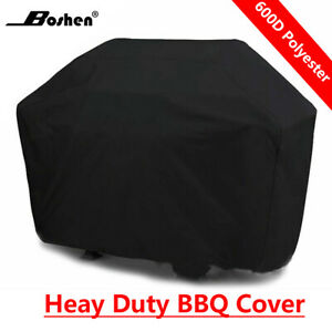 Boshen 58quot; 64quot; 70quot; 72quot; Heavy Duty BBQ Grill Cover Gas Barbecue Waterproof Black