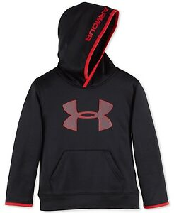 Under Armour Little Boys Pullover Highlight Hoodie Black Red Size 5