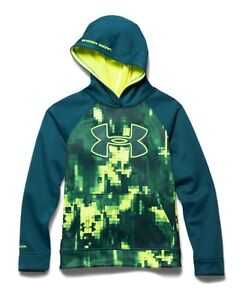 NWT - UNDER ARMOUR Boy's  Youth 'BIG LOGO - STORM' 1264657-400 HOODIE - YMD