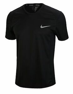 Nike Men Dry Miler Jersey Shirts SS Running Black Dri-fit Shirt Tee 833592-010