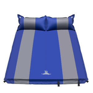 Double Self Inflating Pad Sleeping Mattress Mat Air Bed Camping Hiking Outdoor 5