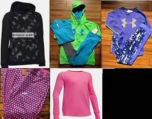 UNDER ARMOUR GIRLS EXTRA LARGE LEGGINGS ~ HOODIE SWEATSHIRTS ~ 7PC ~ BNWT $315