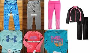 HUGE LOT GIRLS SIZE 5 UNDER ARMOUR ~ 8pc ~ HOODIE SWEATSHIRT ~ LEGGINGS $195