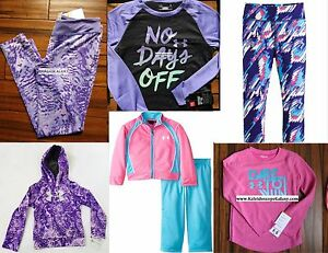 HUGE LOT GIRLS SIZE 5 UNDER ARMOUR ~ 7pc ~ HOODIE SWEATSHIRT ~ LEGGINGS $182