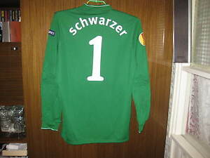 Mark Schwarzer goalkeeper football shirt Fulham Match worn RARE