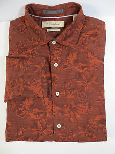 Beauty!TOMMY BAHAMA island modern fit shirt size L Dry-Cleaned button floral