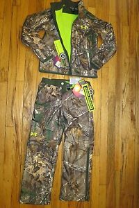 UNDER ARMOUR Boys Scent Control Camo Infrared Hunting Jacket YLG