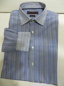 Mint!ETRO long sleeve striped shirt Dry-Cleaned size 41 slim fit  ITALY =M U.S.