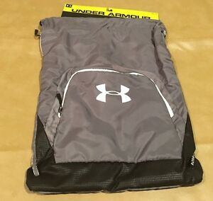 NWT Under Armour UA Bag Sack pack Gray Sternum Clip Included New