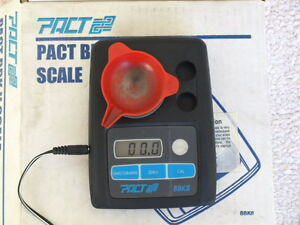 PACT BBK 2 Powder measure scale--WORKS great WTEST WEIGTH & POWER SUPPLY FOR AC
