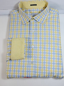 Mint!Bugatchi Uomo classic fit long sleve shirtdry cleaned 100% cotton size XXT