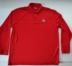 UNDER ARMOUR Congressional Country Club Red POLO GOLF SHIRT Mens Large BETHESDA
