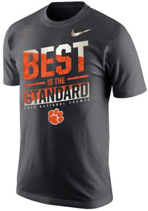 Nike Dri Fit Clemson Tigers Best Standard National Champs Team Celebration shirt
