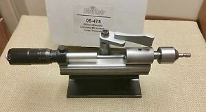 Wilson Sinclair Ultimate Micrometer Case Trimmer (05-475) Carbide Cutter Extras