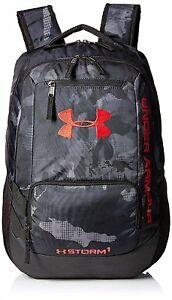 Under Armour Hustle Storm ii Backpack 1263964 New Black Camo Ua Back Pack