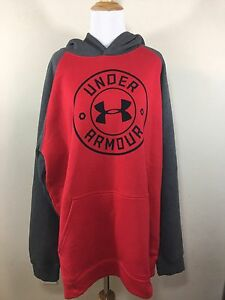 Under Armour NWT Mens Hoodie RedGray XLarge