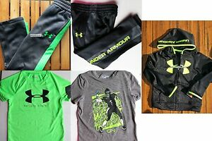 UNDER ARMOUR BOYS 4 ~ TRACK PANTS ~ HOODIE SWEATSHIRTS X 4PC ~ $152