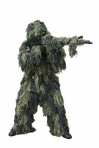 Red Rock Outdoor Gear Men's Ghillie Suit Woodland Camouflage MediumLarge