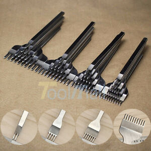 2019 Leather Craft Tools Hole Chisel Graving Stitching Punch Tool Set 3,4,5,6MM