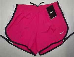 NWT NIKE Youth Big Girls Tempo Dri-Fit Running Shorts Built in Brief Pink Y L 14