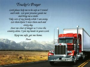 TRUCKERS PRAYER Personalized Gift for Dad Truck Driver Fathers DayChristmas $12.95