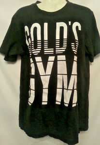 Golds Gym Tshirt Small Black White Cotton unisex Fitness Exercise S a3