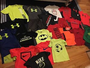 HUGE 25 PIECE BOYS SUMMER LOT- UNDER ARMOUR NIKE & ADIDAS-5T Tops & 34T Shorts