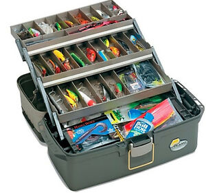 Plano Large 3-Tray with Top Access Tackle Box Fishing Fish Bait Lure Case New!