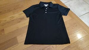 Nike Golf Fit Dry women's black polo shirt size S NWOT