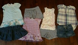 9 Piece Girl's Lot - Size 68 - Naartjie Justice Old Navy Under Armour Shorts