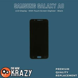 Samsung Galaxy A8 LCD Display + Touch Screen Digitizer Replacement Black