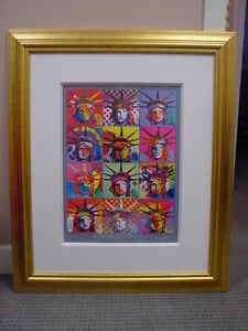 Liberty and Justice for All by Peter Max appraised value $6495.00