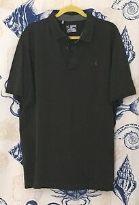 Under Armour Men's Collared Top Green 2XL Loose HeatGear Pre-Owned [#47]