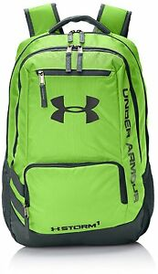 Under Armour Hustle Storm ii Backpack 1263964 New Hyper Green Ua Back Pack
