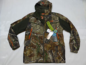 UNDER ARMOUR CAMO Ridge Reaper RealTree Primaloft Insulated XL Jacket whood
