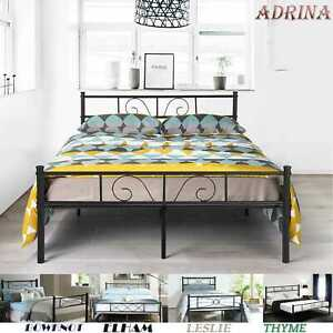 Platform Metal Bed Frame Foundation Headboard Furniture Bedroom Twin Full Size