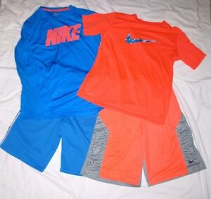 Lot 4 Boys NIKE Dri Fit Shorts & Shirts sz L & LS Shirt XL