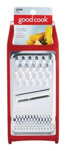 Good Cook  Red  Stainless Steel  Cheese Grater