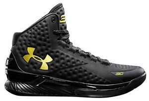 Under Armour Stephen Curry One 1 Gold Banner Size 10. dub nation steph warriors